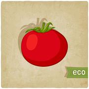 Tomato eco background Stock Illustration