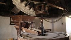 wind mill inside making bread,Castro Verde Portugal - stock footage