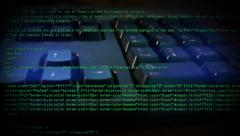 Writing HTML Code on a Computer Keyboard 4352 - stock footage