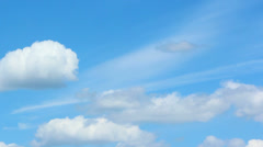 Several different cloud types moving in a different direction Stock Footage