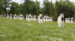 Soviet military cemetery 5 Stock Footage