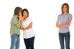 teenage girls gossiping - stock photo