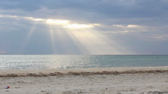 Sun rays beach - stock footage
