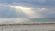 Stock Video Footage of Sun rays beach