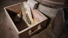 Inside wind mill making bread,Castro Verde Portugal Stock Footage