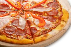 Hearty pizza Stock Photos