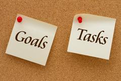Goals and tasks Stock Illustration