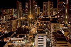 Honolulu, Hawaii at night Kuvituskuvat