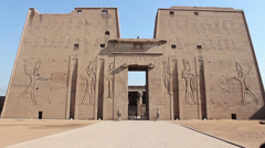 Philae Temple Front Gate Egypt Stock Footage