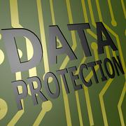 Pcb board with data protection Stock Illustration