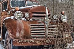 Old Dodge Truck abandoned - stock photo