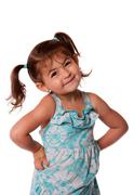 Little toddler girl attitude Stock Photos