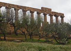 Greek temple of Agrigento - stock photo