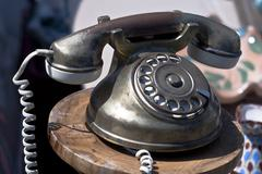 Vintage phone - stock photo