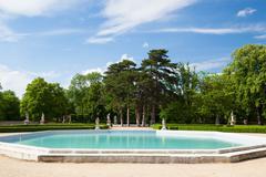 The garden in Slavkov Castle  - stock photo