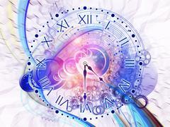 Time fragments Stock Illustration