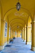 Colonnade in Schoenbrunn - stock photo