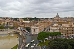 Rome and the Tiber - stock photo