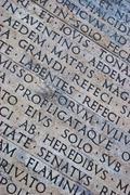 Roman scripture - stock photo