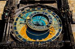 Astronomical clock - stock photo