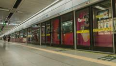 Timelapse of Subway station Stock Footage
