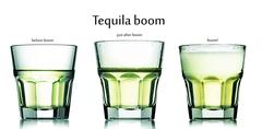 tequila boom cocktail - stock illustration