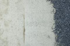 texture of three types of wall adjustment. - stock photo
