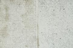 Texture of two types of wall adjustment. Stock Photos