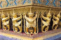 Golden Garuda at grand palace Thailand Stock Photos