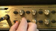 Stock Video Footage of Vintage Guitar Amplifier