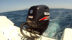 Outboard engine of boat  Stock Footage