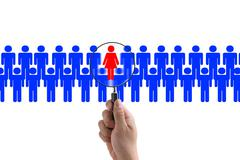 Woman recruitment Stock Photos