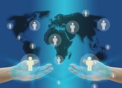 World Social Network Communication Concept Stock Photos