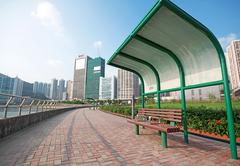 Stock Photo of summer day in public city park