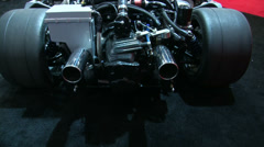 Super car engine exhibited at Miami International Boat Show  Stock Footage