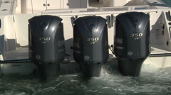 Detail of fishing boat engine  Stock Footage