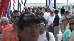People attend Miami International Boat Show  Stock Footage