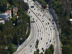 Hollywood Overlook 09 Freeway Stock Footage