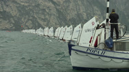Stock Video Footage of Start of regatta at Optimist World Championship