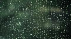Rain Drops on Window Glass Stock Footage