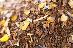 Coffee-like, caffeine-infused mate and red rooibos blend, full f Stock Photos