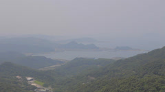 A clear view of the jiufen coastline Stock Footage