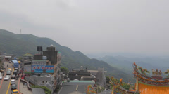 Left to right pan - fushan temple Stock Footage