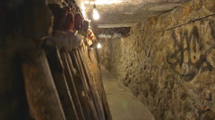 Old mine tunnel near shuchi street Stock Footage
