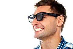 Stock Photo of Cheerful adult male having a good laugh
