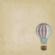 Stock Illustration of retro background with aerostat
