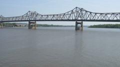 Murray Baker Bridge Peoria, IL Stock Footage