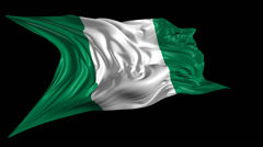 Flag of Nigeria Stock Footage