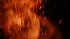 Flames and Sparks - 29,97FPS NTSC Stock Footage