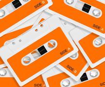Audio casette - stock photo
